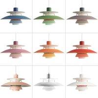 북유럽 E27 주도 펜던트 조명 다채로운 우산 일시 중단 램프 식당 주도 펜던트 램프 LED Lamparas 조명기구