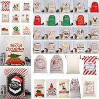 공장 크리스마스 가방 대형 캔버스 Monogrammable 산타 클로스 졸라 매는 끈 부대와 순록 크리스마스 선물 자루 가방 크리스마스 장식