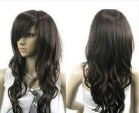 WIG LL HOT sell Free Shipping > > Vogue brown curl wome...