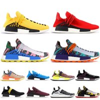 2019 adidas yeezy Course humaine NMD Chaussures de course Pharrell Williams Hu trail Oreo Nobel encre Noir Nerd Designer Sneakers Hommes Femmes Chaussures de Sport