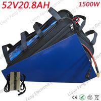 Leistungsstarke 52V 1200W 1500W Elektro-Fahrrad-Dreieck-Batterie 52V 20AH Lithium-Batterie mit 40A BMS und 58,8V 4A Schnellladegerät.