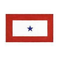 Freies Verschiffen auf Lager 3x5ft 90x150cm Polyester-Familienmitglied Militärdienst 1 Blue Star Flag Banner für Indoor Outdoor Hängedeko