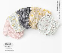 Babykurzschlüsse kleidet Sommer Mädchen-Blumen- oder Plaid-Druck Allgleiches 100% Baumwolle Baby pp. schließen multi Farben kurz