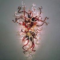 Retrô Murano Lâmpadas Sconce mão soprada estilo americano estilo de vidro colorido lâmpada de parede para casa hotel