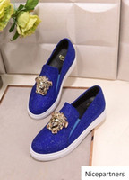 duping520 blue Increase seasons shoes Men Dress Shoes Moccas...