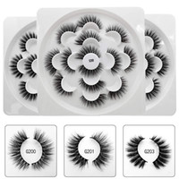 Cabelo Mink 3D Lotus Pestanas Handmade Winged completa Faixa Lashes 7 pares / Maquiagem Pacote Eye False Lash Eye frete grátis