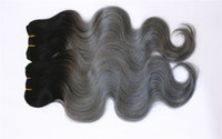 1B Dark Gray Body Wave Hair Extensions 3 or 4 Bundles Brazil...
