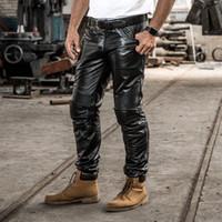 Corsa da uomo 100% vera pelle pantaloni regular pelle bovina Abbigliamento protettivo Pantaloni antivento e caldi in pelle fuoristrada