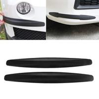tira 2X Protección de goma de fibra de carbono del coche del protector del tope de la puerta del protector de Gaza guardaesquina parte posterior del frente resistente a los arañazos