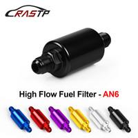 RASTP - جودة عالية AN6 العالمية السيارات الألومنيوم الوقود فلتر مع تصفية النحاس فلتر الوقود الذهب / الأسود / الأزرق / الأحمر / الأرجواني / الفضة RS-OFI002