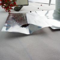 9 * 13cm, 200pcs sacchetto di imballaggio in polvere Sacchetto normale, sacchetto di placcatura in alluminio di trasparenza anteriore, sacchetto di immagazzinaggio di farina metallica argentata Mylar