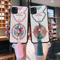 Sollievo stile del fiore cinese Patterned casse del telefono con la nappa Pendente per Iphone 11 Pro ProMax 2019 morbida Silicon Cases Covers