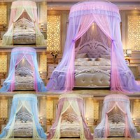 새로운 디자이너 침구 공주 퀸 침대 텐트 커튼 침대 캐노피 더블 색상 웅 모기장 커튼 돔 룸 장식 접이식