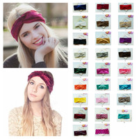 Donne Twist Knot Wrap Headband Velvet Morbido Elastico Turbante Testa Casual lady Principessa accessori per capelli dot headware CNY1258