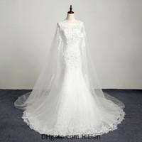White Ivoire Gaine Dentelle Applique Robe De Mariée Robe de mariée Robe de mariée Robe d'occasion de mariage Robe de mariage avec Train Taille personnalisée