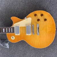 Free Shipping LP STANDARD electric guitar tiger maple yellow...