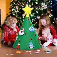 3D DIY رأى شجرة عيد الميلاد مع معلق الحلي الاطفال هدايا عيد الميلاد عيد الميلاد الرئيسية الأوسمة لغز ألعاب تعليمية JK1910