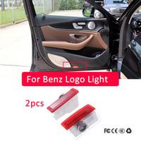 2x pour Mercedes Benz E W213 W212 C W205 A W176 B W246 AMG LED voiture Porte de voiture Logo Laser Projecteur Laser Cylisme Logo Accessoires de lumière