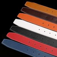 Cintos Mens Belt Moda cintos homens de couro Cintos Preto Negócios Mulheres Big fivela de ouro clássico das mulheres Ceinture Casual com Orange Box