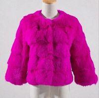Женщина весна осень euramerican новый фонд прилив высококачественных товаров индивидуальный характер большой короткий деньги 7 минут рукав меха пальто / M-2XL