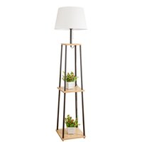 노르딕 플로어 램프 거실 간단한 현대 침실 연구 단단한 나무 돋보기 플로어 램프에 대한 플로어 램프 풋 스위치