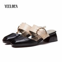 YEELOCA slippers women 2019 outdoor summer slippers med heel...