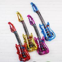 Gitar Alüminyum Balonlar Kaya Müzik Aletleri Olay Dekorasyon Sokak Çocuk Oyuncakları doğum günü partisi dekorasyon Hediyeler Pushing Singing