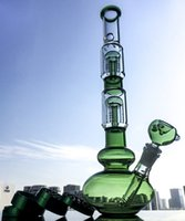 Tall Heady Double 4- Arms Trees Perc Glass Bong Big Beaker Ic...