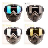 Máscara facial desmontable motocicleta táctico Gafas Moto viento a prueba de polvo Máscara Racing Ciclismo Casco Protector gafas de cara abierta