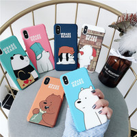 We Bare Bears Hard Phone Cases For iPhone 7 7plus 8 Plus 6 6...