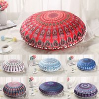 Round Plush Pillow Covers Cushion Cover Pillowcase Cushion C...