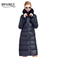 Kadın Ceket Ceket Orta Uzunlukta Kadın Parka Ile Bir Tavşan Kürk kış Kalın Ceket Kadın MIEGOFCE 2017 Yeni Kış Koleksiyonu Sıcak