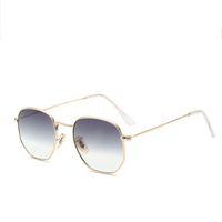 Zuczug مضلع الإطار المعدنية مربع النظارات الشمسية النساء الكلاسيكية خمر الطيار نظارات الشمس تصميم العلامة التجارية التدرج النظارات الشمسية oculos