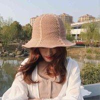 2019 мода новая корейская версия сплошной цвет лето шляпа рыбака случайные прилив складной хлопок белье Женская шляпа взрослых Cap