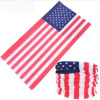 USA Flag Bandanas Hiking Scarf Sport Headwear Women Reversib...