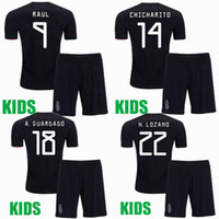 2019 2020 Mexique Enfants Maillots de football ensembles Survêtements CHICHARITO RAUL M.LAYUN R.JIMENEZ M.LAYUN R.MARQUEZ 19 20 shirt de football garçons