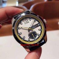 New High Quality Grand Prix de Monaco Historique Power Reserve Acciaio Automatic Watch Mens 168569-3001 quadrante bianco cinturino in pelle Uomo Orologi