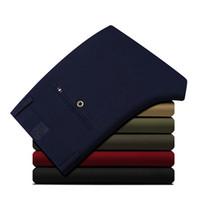 AIRGRACIAS los nuevos hombres de moda los pantalones de algodón de alta calidad de color sólido de los hombres del tamaño de los pantalones largos masculino 28-38