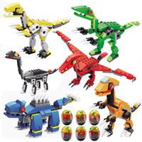 24 stilleri Yapı taşları Büküm Yumurta Oyuncaklar Dinozor Uzay Gemisi Roket Littlle Canavar Tuğla Oyuncaklar Çocuklar Parti Hediyeler