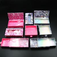 Visone Ciglia Box Ciglia finte imballaggi vuoti Lash cassa del ciglio Box senza ciglia denaro imballaggio Lash Box 10styles RRA3189