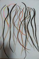 """Mode 6-11 """"Grizzlyhahn Federhaar 100% echte Federhaarverlängerungen zufällige natürliche Farbe für Friseursalon"""
