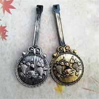 NUOVO 10PCS all'ingrosso di plastica il vecchio orologio a pendolo nonno del pendolo del quarzo di misura due colori che spedice liberamente