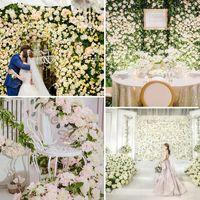 Yapay Ortanca Çiçek Duvar 40 * 60cm Noel Dekorasyon Fotoğrafçılık Backdrop Romantik Düğün Dekorasyon Çiçek Parti Tedarik VT0502