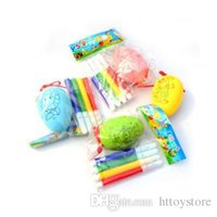 htt 20Pcs lot Children's Manual DIY Easter Egg Simulation Graffiti Holiday Gift Decoration Plastic Goose Egg