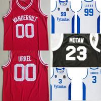 Steve Urkel # 00 Vanderbilt HS Baloncesto Jersey Lituania Prienu Vytautas Camisa de baloncesto Liangelo 3 Uniforme de pelota 99 Lavar Ball Jerseys