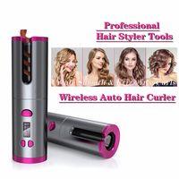 Professionnel Température automatique Température Wireless Température Affichage Hair Curling Roller Rouleau USB Chargement automatique des curieux Toile de coiffure Outils