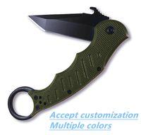 Suministro al por mayor de BRT de oliva dorar cuchillo plegable X50 oliva Tanto punto navaja de bolsillo hoja KERSHAW X50 X78 DA38 cuchillo plegable aceptar customiz
