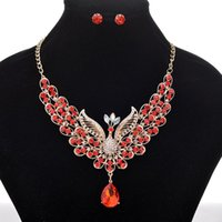 Crystal Peacock Pendant Necklace Bohemian Phoenix Sweater Ch...