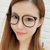 97cbb5c4a76 New Arrival. Vintage Oversized Spectacle Glasses Men Women Brand Designer  Metal Frame Transparent Lens Eyeglasses Optical Glasses Female Nerd