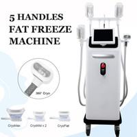 2019 En Yeni Freeze Yağ Cryolipolysis Makine Vücut Ağırlığı Zayıflama 4 Cryo Kolları Birlikte Kryolipolysis Ekipman Çalışır Lose Soğuk